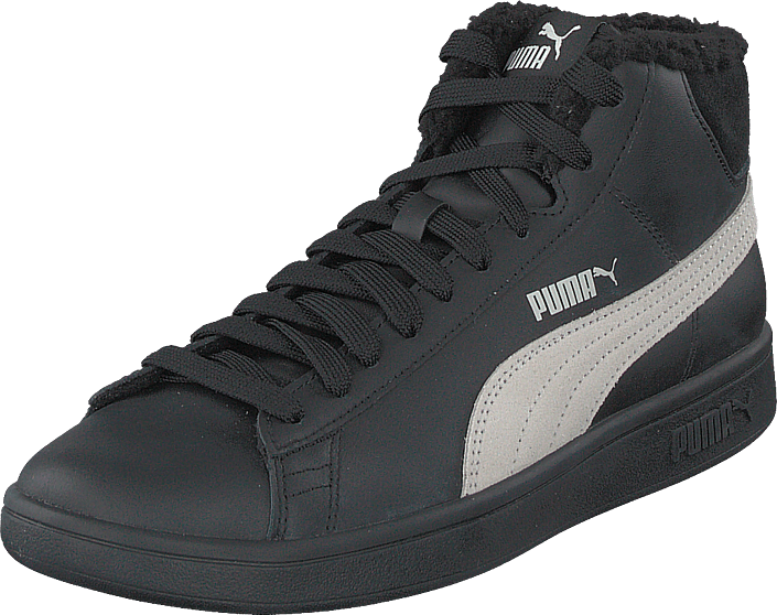 Puma - Puma Smash V2 Mid L Fur Jr Puma Black-whisper White