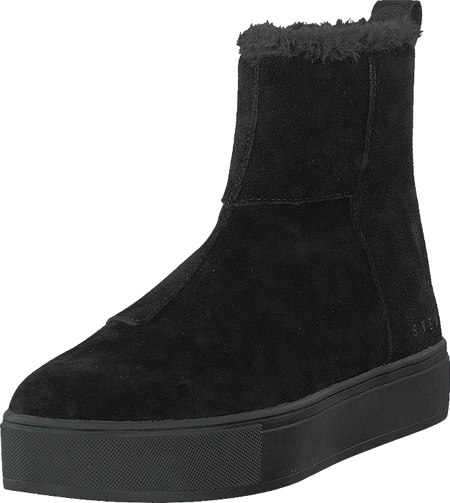 Svea - Suede Pile Boot Black