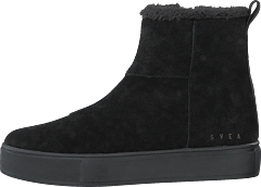 Suede Pile Boot Black
