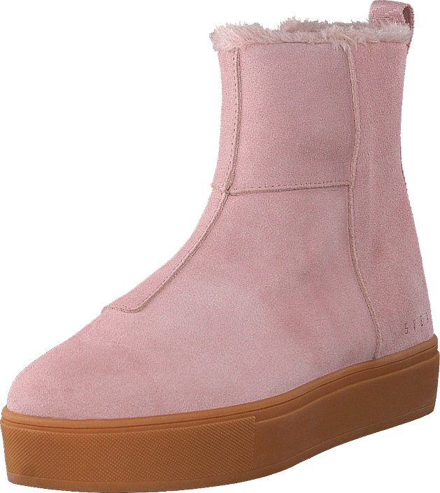 Svea - Suede Pile Boot Soft Pink