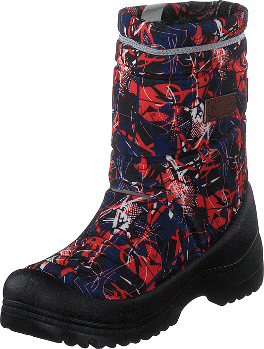 414-8001 Waterproof Warm Lined Navy/red