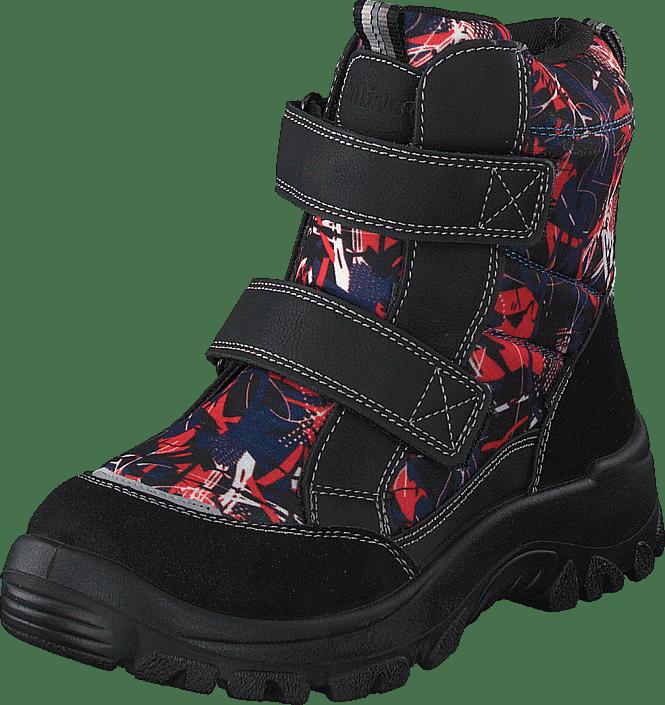 414-6107 Waterproof Warm Lined Navy/red