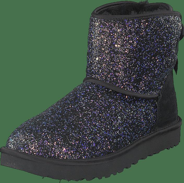 UGG - Classic Mini Bow Cosmo Black Glitter
