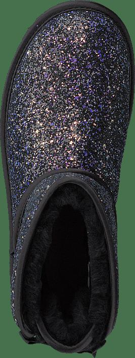 Classic Mini Bow Cosmo Black Glitter