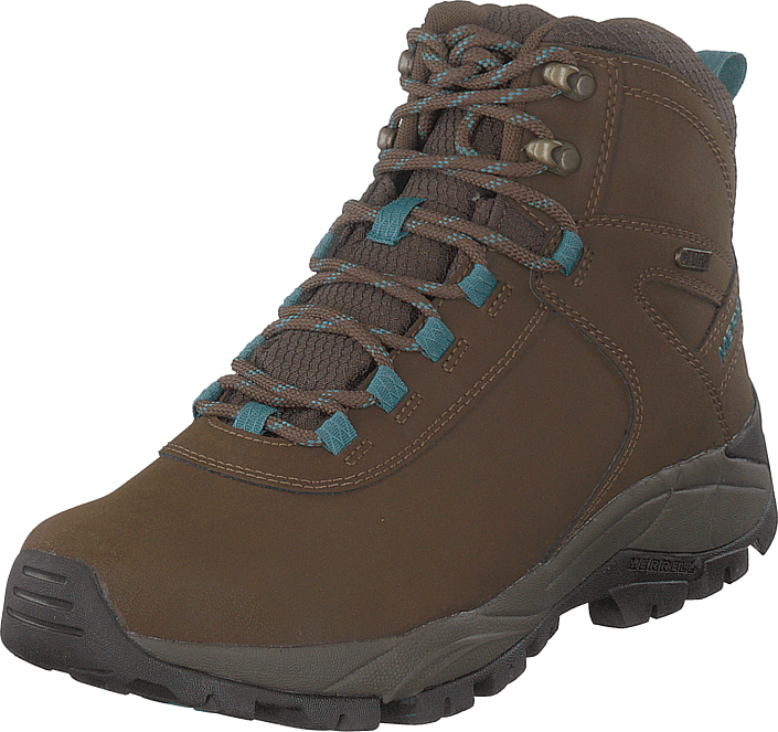 Merrell - Vego Mid Leather Wtpf Dark Earth/britianny Blue