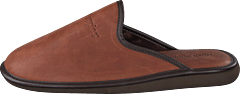 Leather Slipper Cognac