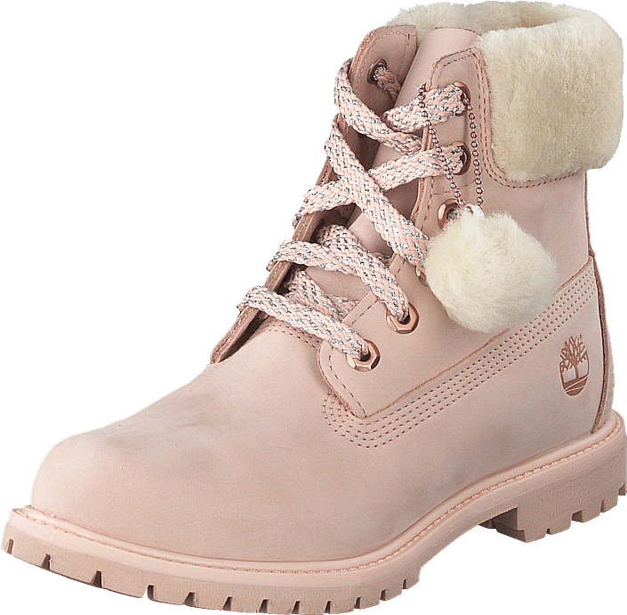 Timberland - 6 Inch Premium W/shearling Collar Cameo Rose