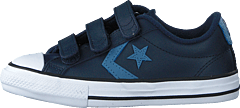 Star Player 3v Leather Ox Obsidian/aegean Storm/white