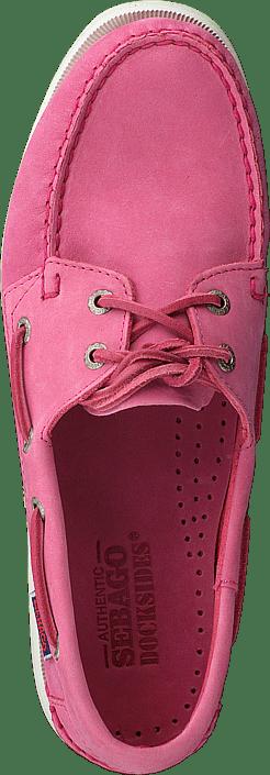 Kjøp Sebago Docksides Pink Nubuck Sko Online