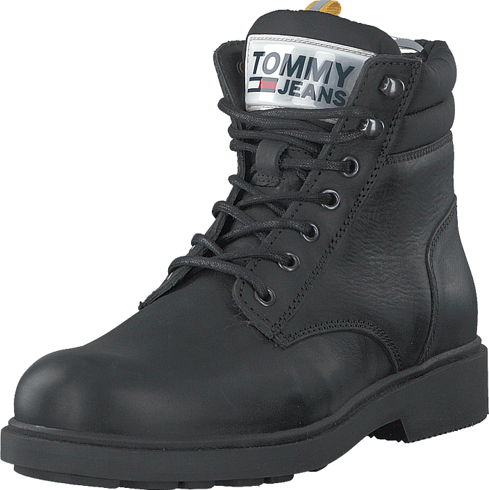 Tommy Hilfiger - Casual Leather Boot Black