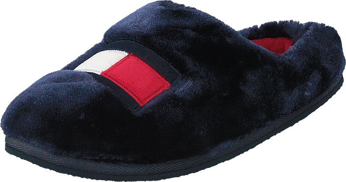 Tommy Womens Fur Slipper Rwb