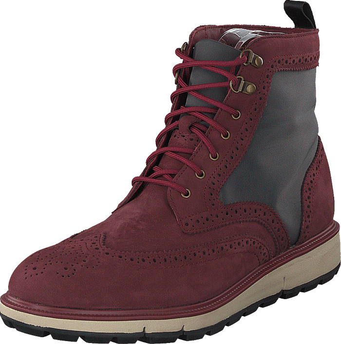Motion Wing Tip Boot Cabernet/gray/black