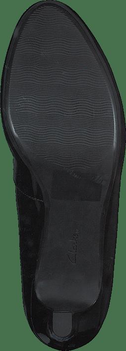Femme Chaussures Acheter Clarks Adriel Viola Noir Pat Chaussures Online