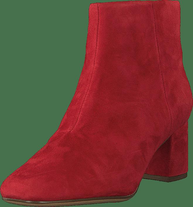 Sheer Flora Red Suede