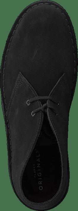 Desert Boot. Black Suede