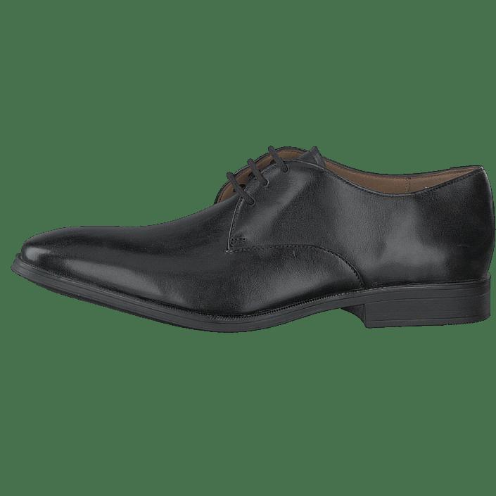 Hommes Chaussures Acheter Clarks Gilhomme Walk Noir Leather Chaussures Online