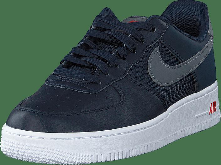 Nike - Air Force 1 '07 Lv8 Obsidian/team Orange/cool Grey