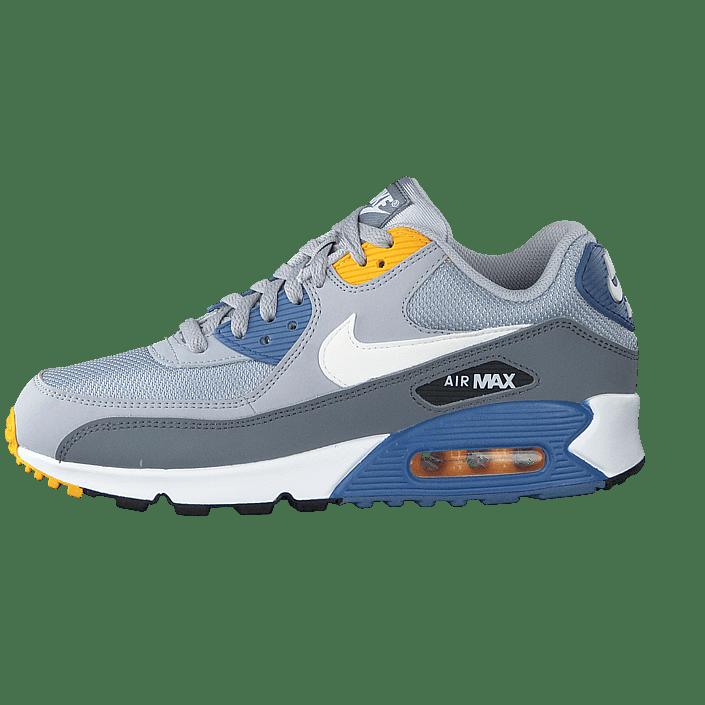Nike Shoes Mens Air Max 90 Essential Wolf Grey White Indigo Storm