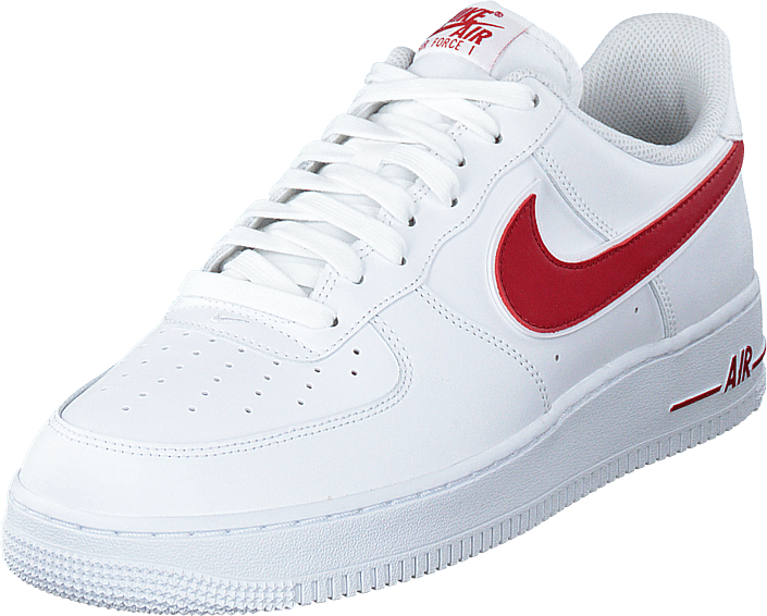 nike air force 1 red and biały
