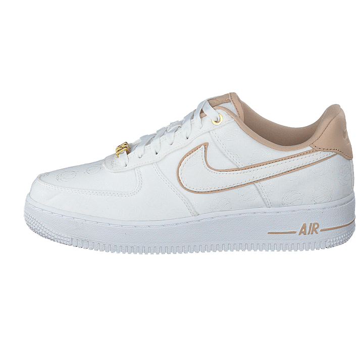 Wmns Air Force 1 '07 Lux Shoe Whitewhitemetallic Gold