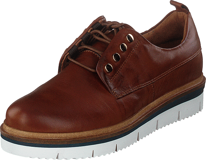 Bianco - Biastella Leather Laced Shoe Cognac