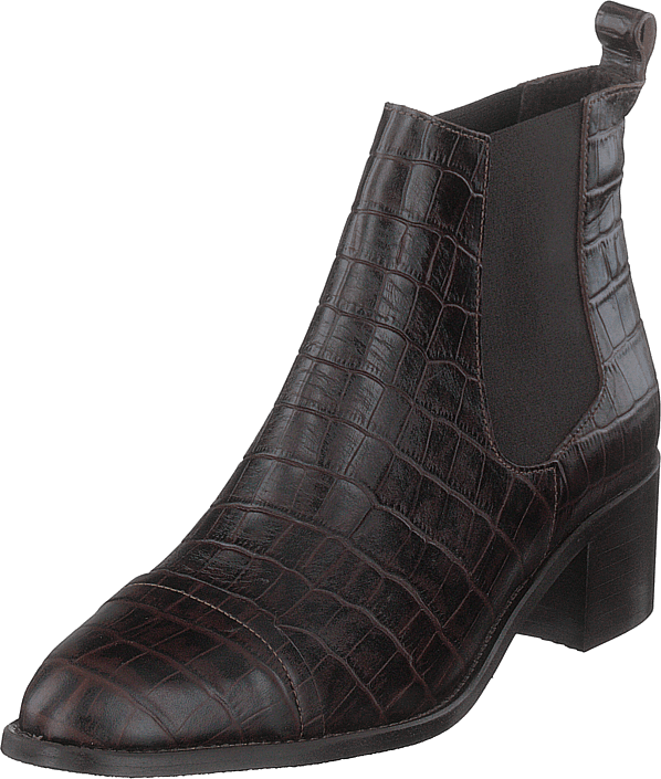 Bianco - Biacarol Croco Dress Chelsea Dark Brown