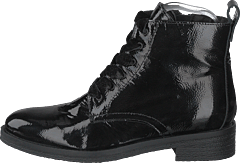 Biatine Patent Laced Up Boot Black