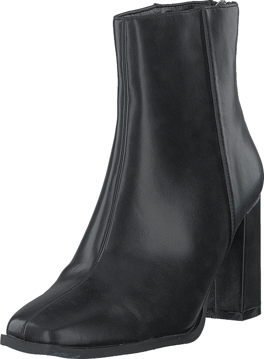 NA-KD - Squared Front Ankle Boots Black