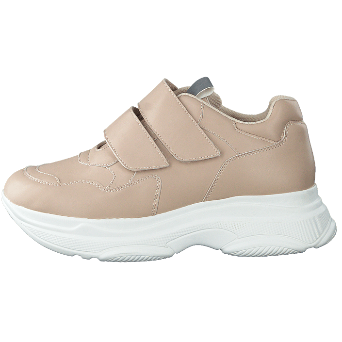 Kjøp NA KD Double Velcro Chunky Trainers Beige sko Online