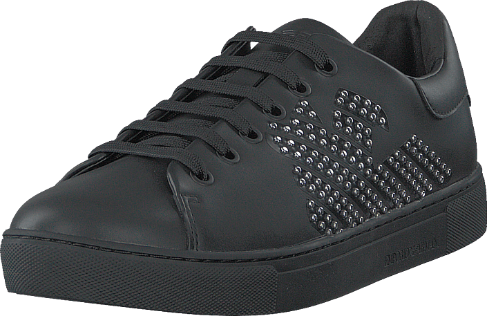 Emporio Armani - Lace Up Sneaker B168 Black+silver