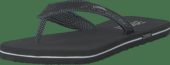 Glitter Thongs Black