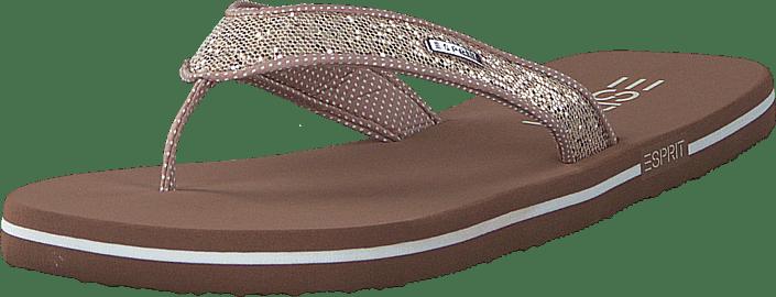 Esprit - Glitter Thongs Cream Beige
