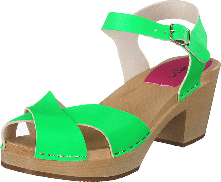 Swedish Hasbeens - Mirja Neon Green