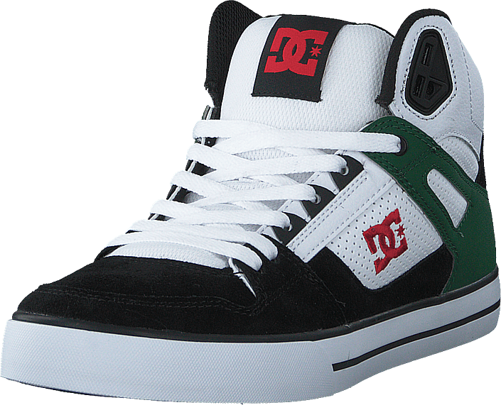 DC Shoes - Pure High-top  Wc White/green/black