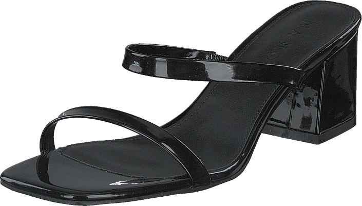 NA-KD - Squared Two Strap Sandals Black
