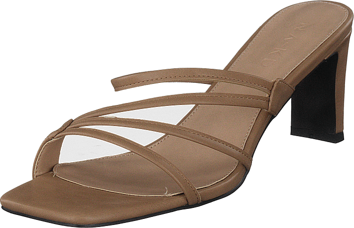 NA-KD - Squared Strappy Sandals Beige