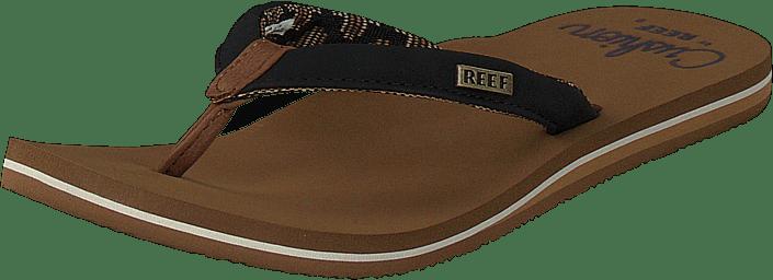 Reef - Reef Cushion Sands Black/tan