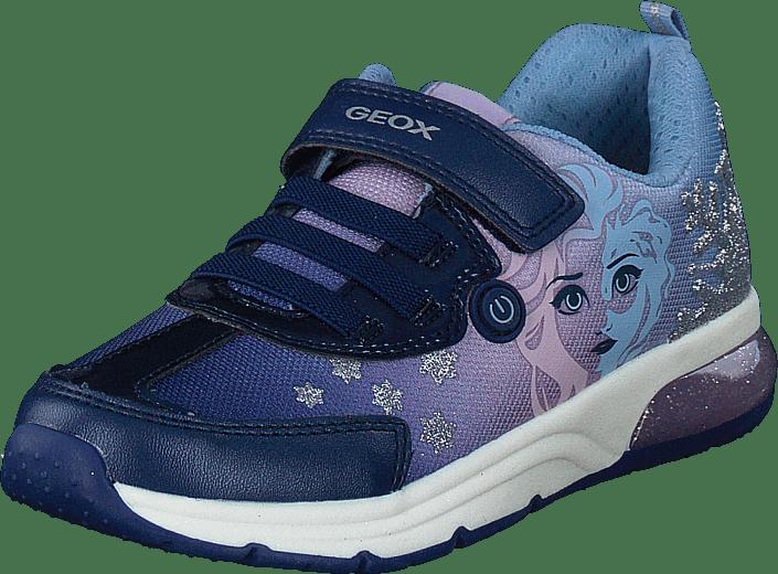 Geox - J Spaceclub Girl Navy/lilac