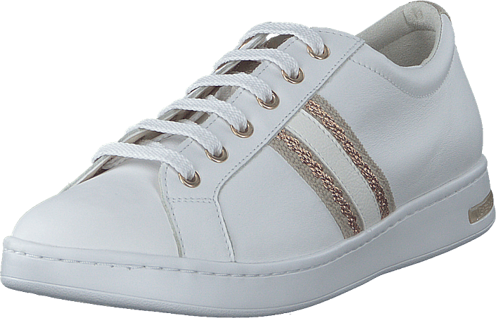 Forzado dos amplificación  Buy Geox D Jaysen White/rose Gold Shoes Online | FOOTWAY.co.uk