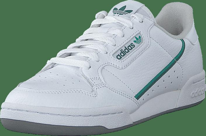 adidas Originals - Continental 80 Ftwr White/glory Green/collegi