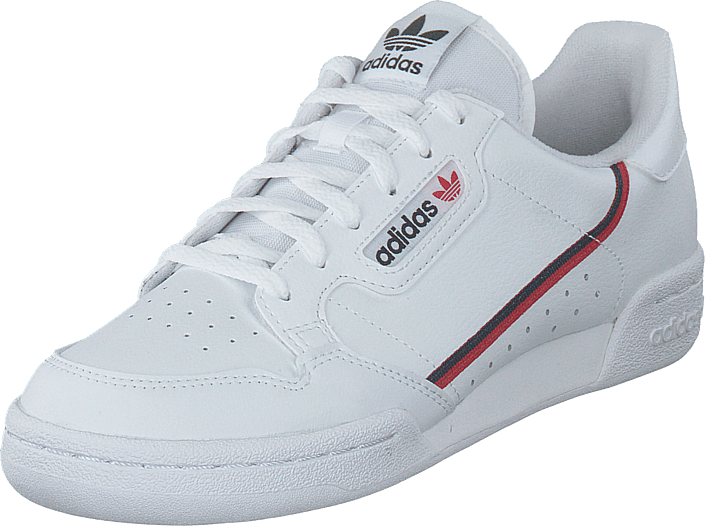 adidas Originals - Continental 80 J Ftwr White/scarlet/collegiate