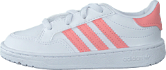 Team Court El I Ftwr White/glory Pink/core Bla