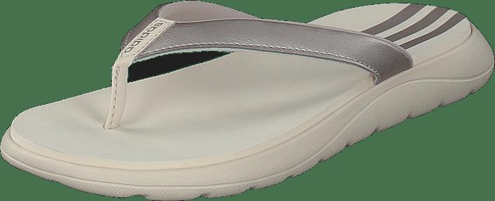 Comfort Flip Flop Platin Met./linen/linen