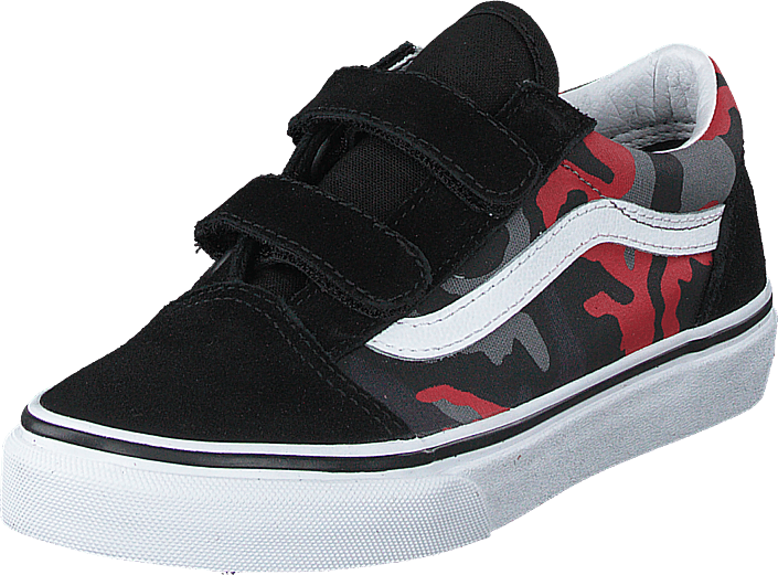 Vans - Uy Old Skool V (camo) Black/racing Red