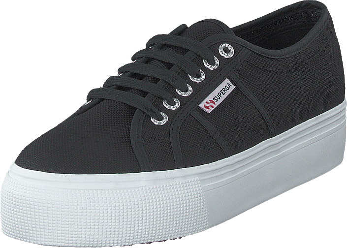 Superga - Lady 2790-cotw Linea And Down F83 Black-fwhite
