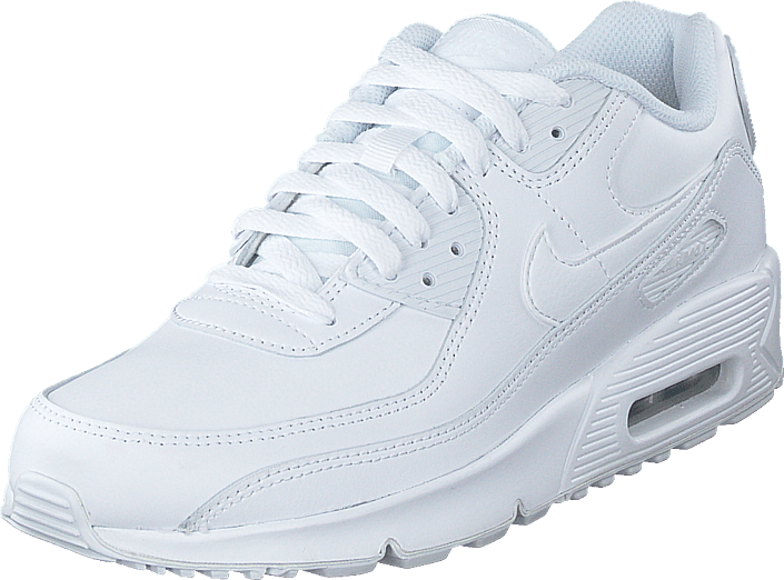 Air Max 90 Ltr (gs) White/white-mtlc Silver-white
