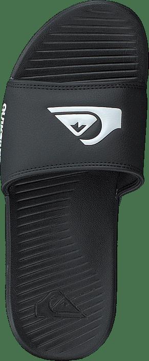 Quiksilver Bright Coast Slide Black/white/black Chaussures Homme