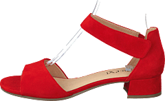 Carla Red Suede