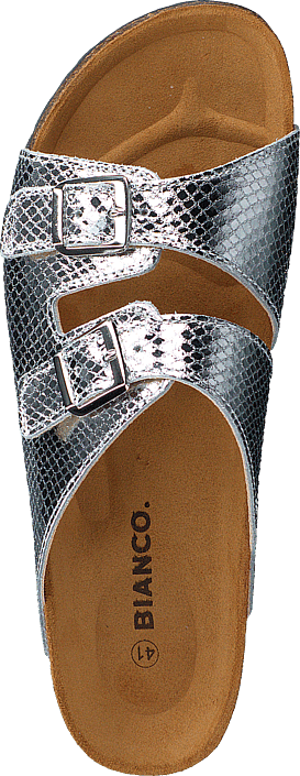 Biabetricia Buckle Sandal 918 Silver Snake
