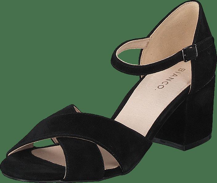 Biacate Suede Cross Sandal 101 Black 1